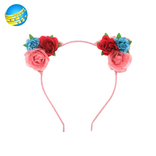 Popular girls fabric material multi flower headbands