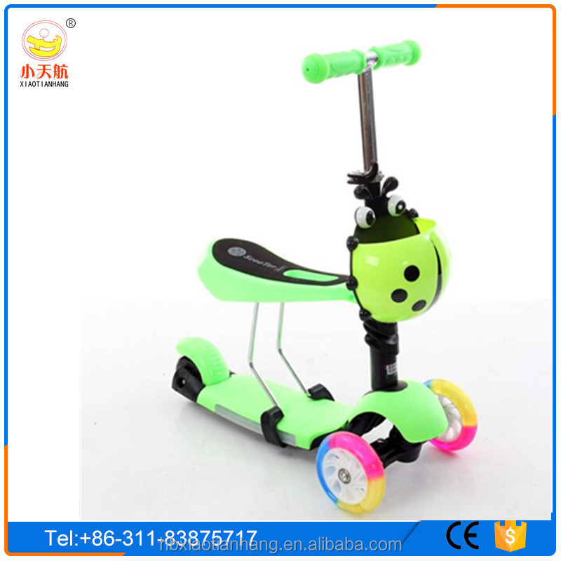 2016 New Arrival CE approved foot pedal kick mini scooter for kids