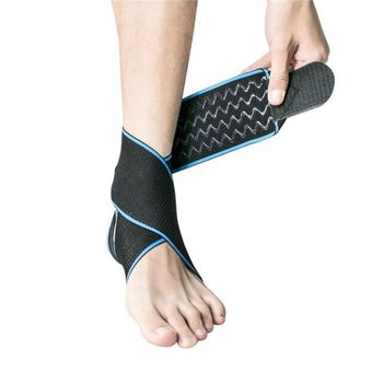 ZRWM12 High quality elastic neoprene waterproof breathable ankle brace with compression straps
