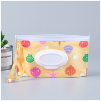Eco-friendly snap-strap easy-carry travel baby wipe case