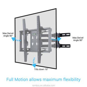 Dual Arm Gelenk Swivel Full Motion Tv Wandhalterung Eckwinkel Für TV  Bildschirm Größe