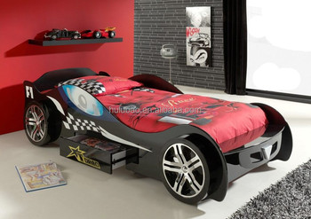 Lamborghini Car Bed Racing Kid Furniture Bedroom Set