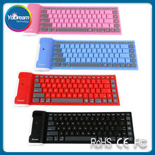 Silicone Rubber Waterproof Flexible Foldable Keyboard For PC IOS iPad Android teclado inalambrico tastiera