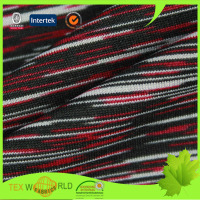polyester spandex space dye fabric for sportswear