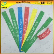 Cheaper one time use waterproof christmas tyvek wristbands