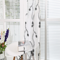 Best quality supply woven technic embroidery curtain fabric for wedding decoration