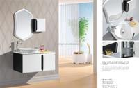 Artistic top ceramic water basin lacquer melamine modern bathroom cabinet (BP-1008)