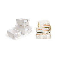 white rectangular wicker storage basket wicker gift basket with fabric liner and handles wholesale