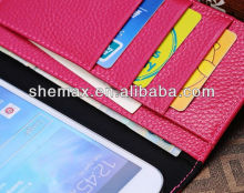 Flip and Fold PU Leather Wallet Phone Cover Case For Samsung Galaxy Note 2 N7100, For Samsung Galaxy Note 2 N7100 Case