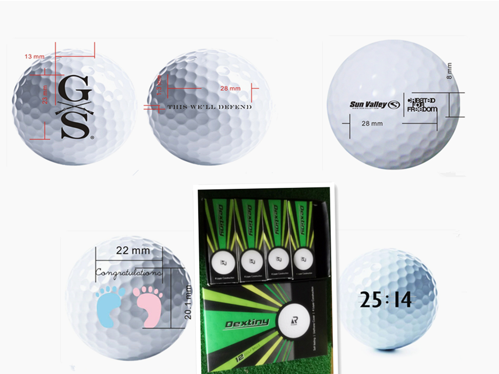 Top quality soft 3-piece urethane golf tournament balls