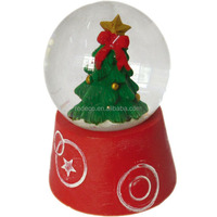 Wholesale snow globe christmas tree decorations balls,resin water snowball