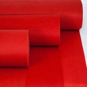 China Supplier 100% Polyester Velour needle Punched Carpet Event Red Carpet