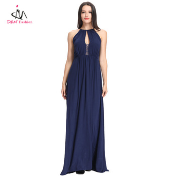 Plus Size Top Quality Halter Neck Backless Elegant Lace Chiffon Royal Blue  Maxi Long Women\'s Evening Dress - Buy Women\'s Evening Dress,Long Women\'s ...
