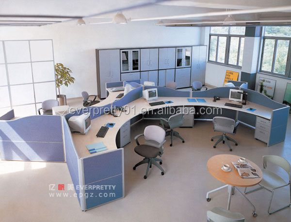 Commercial Used Office Partition Standard Sizes of Workstation Furniture Computer Workstation