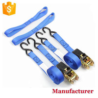 2 pack Best Auto Ratchet Tie Down Straps with S hooks
