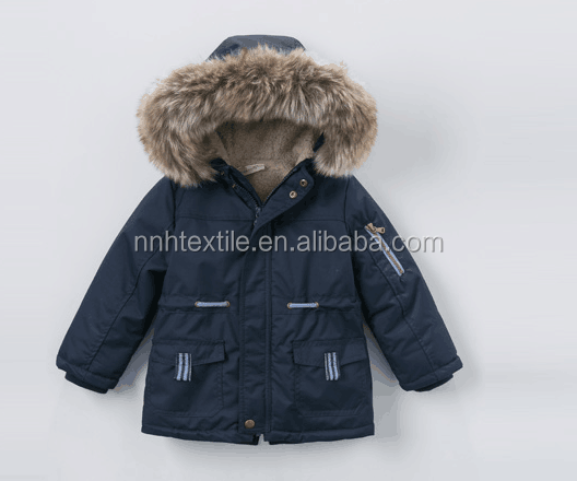 China supplier hot selling new style winter coat for children wear fur coat kids wholesale winter jacket kids