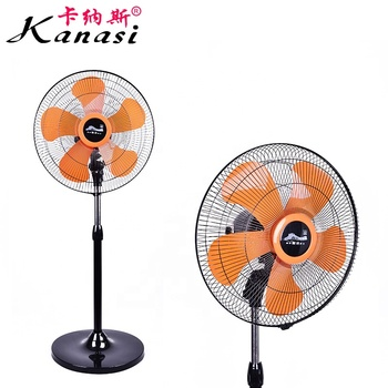 "Kanasi OEM 130 W 450 mm 18 "" Inch Household Home Appliance Oscillating Electric Pedestal Stand Fan with ABS Plastic Blade"