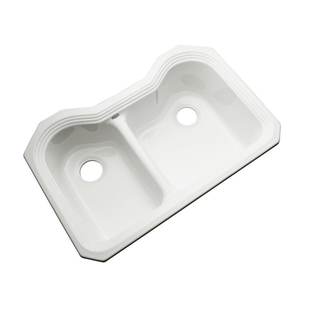 Dekor Sinks 56041UM Buckingham Double Bowl Undermount Cast Acrylic Kitchen Sink Teal 33