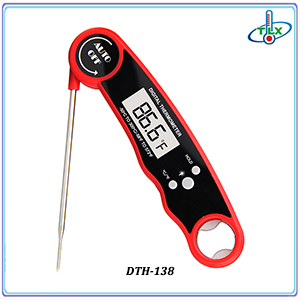 Instant Read Digital Meat Milk Thermometer with Foldable Probe and  and Automatic Rotation Display in ABS Material