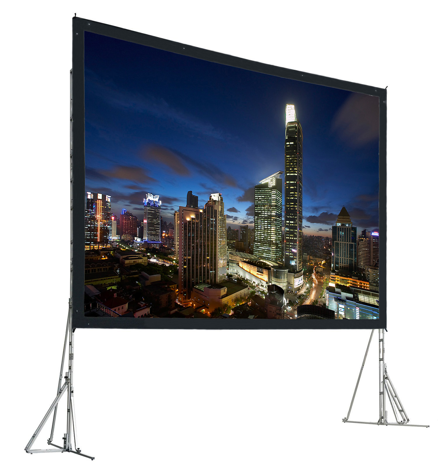 120 inch 4:3 Portable adjustable fast folding projector screen