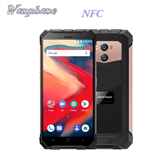 Wholesale Ulefone Armor X2 Waterproof IP68 3G Smartphone 5.5 HD Quad Core Android 8.1 2GB+16GB NFC Face ID 5500mAh Mobile Phone фото