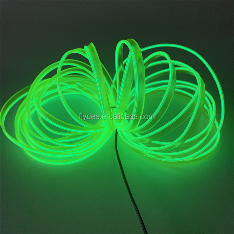 10 Colors Flexible Car EL  Electroluminiscent Wire for car party festival decoration with 12v inverter AA battery