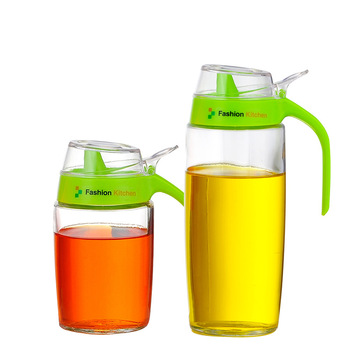 Thick Glass Leak   Proof Quantitative Pot Kitchen Sauce Bottles Vinegar  Bottles Control Oiler Oil Bottles