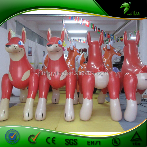 New Funny and Vivid Inflatable Wolf From Hongyi, Inflatable Dog Toys, Inflatable Red Wolf 2m High for Summer Pool