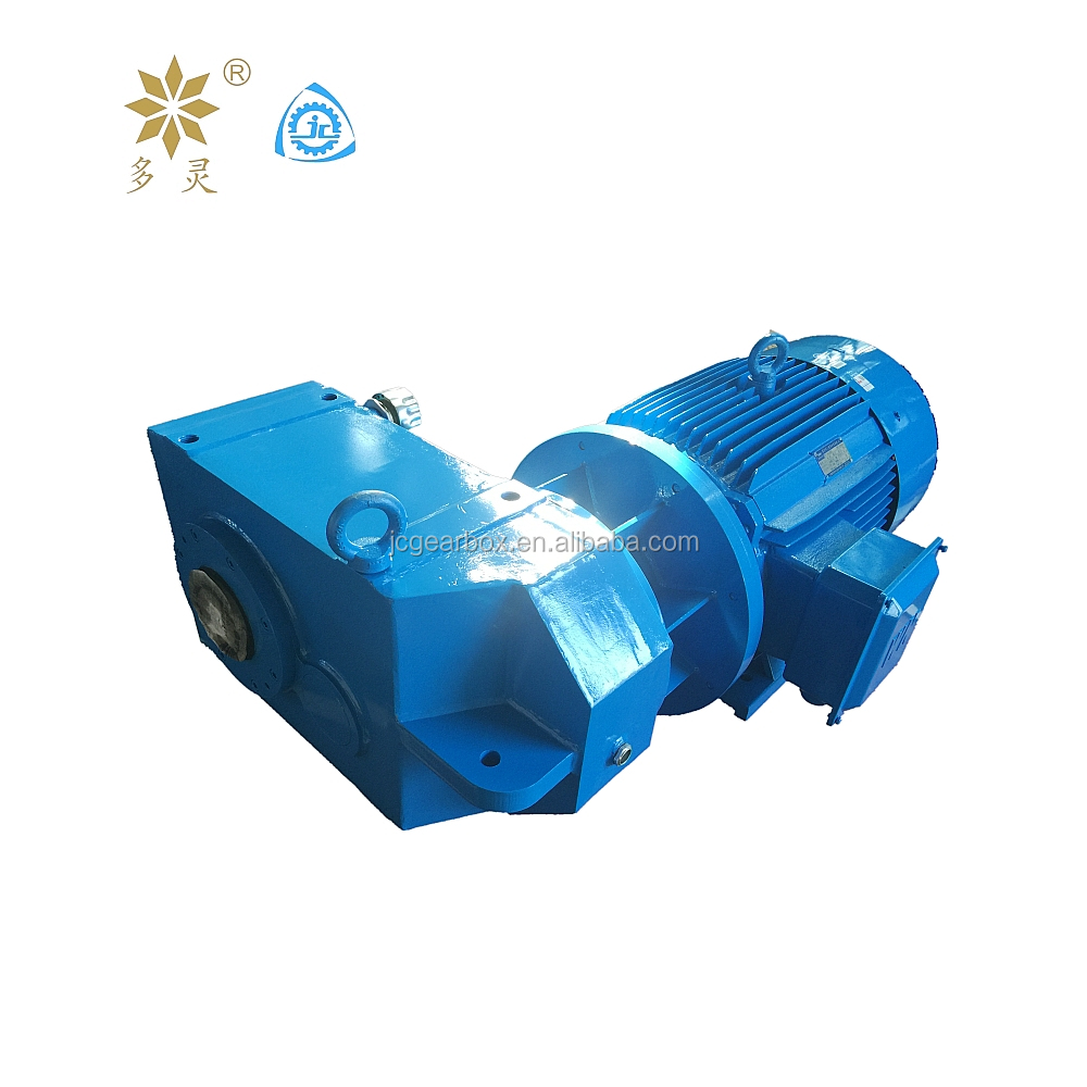 Jiangyin Gearbox Flendered Bevel Helical Gearbox with Gear Motor