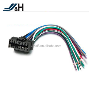Aftermarket Car Stereo Radio Receiver Replacement Wire Harness Cable for 16Pin Socket MEX-BT31PW CDX-CA700X WX-GT90BT