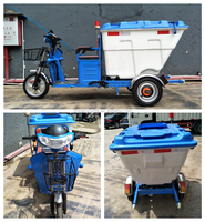 three wheel garbage electric Truck/ Electric Tricycle for dusting cart