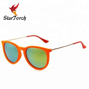 New arrival hot sell Hand made velvet wrapped brand Italy design sunglasses