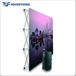 Good quality factory directly metal stand backdrop wall magnetic pop up display