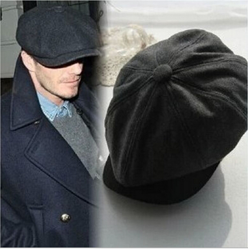 Beckham Same Male Fashion Gorras Planas Solid Boina Beret Hats Casual  Octagonal cap 4 Colors eaa873e60b3
