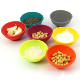 Multi-colored cooking bowls pure food grade silicone