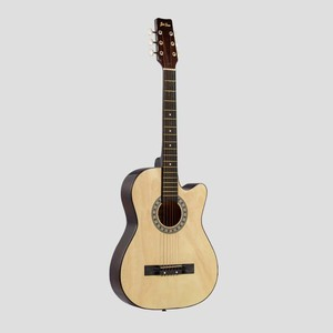 cheap price cutaway 6string colorful bass linden wooden 38 acoustic guitar for beginner
