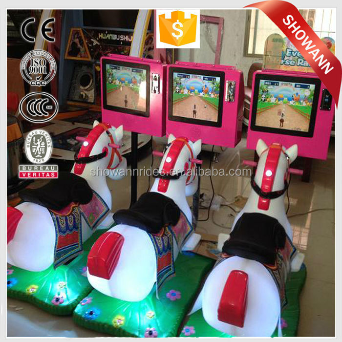 Amusement Kids Ride Coin Operated Horse Racing Game Machine View Coin Operated Horse Racing Game Machine Showann Product Details From Zhengzhou Showann Commercial And Trading Co Ltd On Alibaba Com