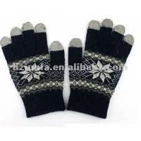 fashional super popular for cell phone warm cozy touch screen glove