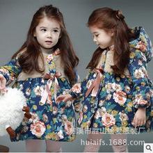 2016 Winter New Fashion Girls Coat Children Floral Hooded Long Down Jacket Outerwear Kids Girl Princess