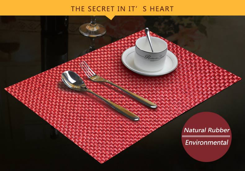 Wholesales New Products High Quality Natural Rubber Poker Dining Table Mat