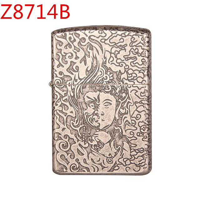 Z17-8714A personalized double-sided carved copper high-grade kerosene lighter
