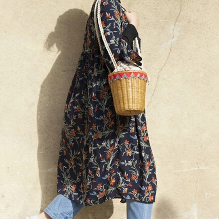 New White Belt Red And Black Rattan Bags Women's Backpack Holiday Style Fashion Women's Bucket Bags