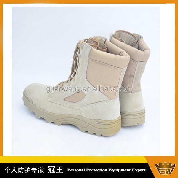 Tan Color Suede Leather Boots Military Boots Prices Army Tactical Boots