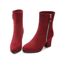 new over ankle high heel winter boots for women