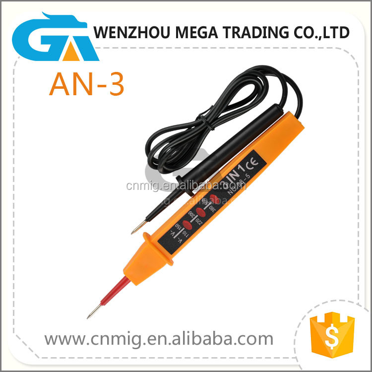 Portable Two-Pole Voltage Tester, Multi-Function Circuit Tester