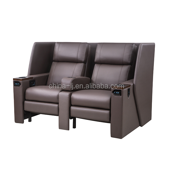 Leadcom electric vip cinema couple seat recliner LS 813B with panel, View cinema couple seat, Leadcom Seating Product Details from Guangzhou Lijiang