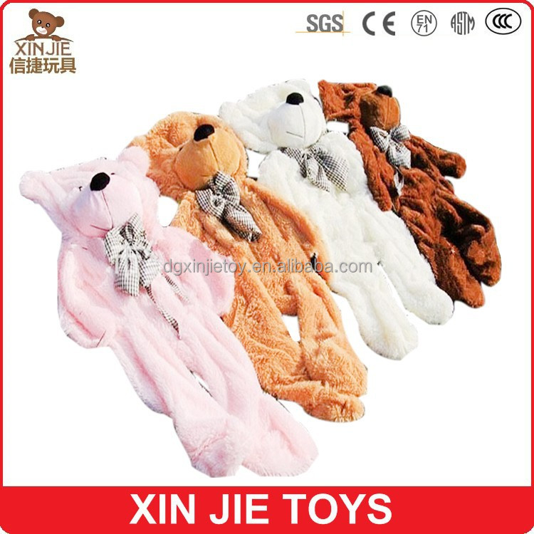 unstuffed plush teddy bear toy big size plush teddy bear skin custom unstuffed bear toys