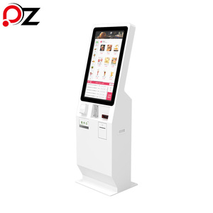 Credit Card / Coin / Bill Payment Restaurant Touch Screen Ordering System Kiosk