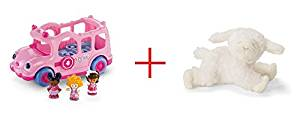 Fisher-Price Little People Lil' Movers School Bus and Gund Winky the Lamb Rattle - Bundle