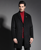 Latest design men long coat 60%wool 40%nylon woodland jackets men overcoat winter